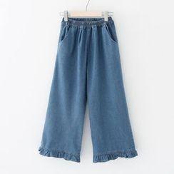 Meimei - 寬腿牛仔褲