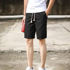 Bingham - Plain Drawstring Shorts