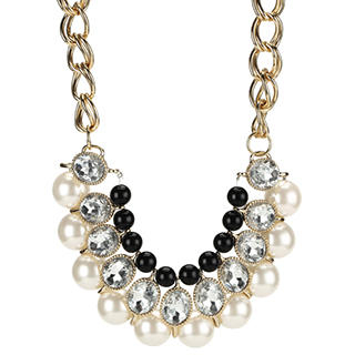 O.SA - Rhinestone Beaded Necklace