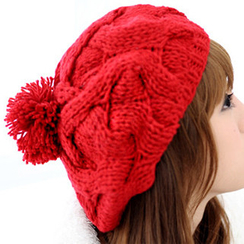 59 Seconds - Cable-Knit Beret