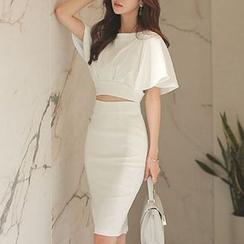 Yilda - Set: Cropped Top + Pencil Skirt