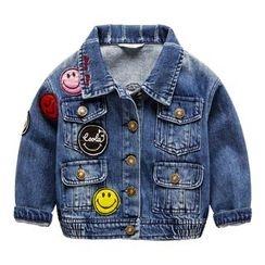 Kido - 童装贴布绣牛仔布夹克