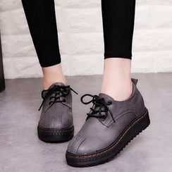 Wello - Low Wedge Oxfords