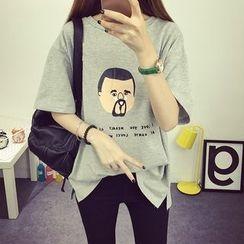 VIZZI - Print Short-Sleeve T-Shirt