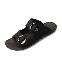 EnllerviiD - Buckled Slide Sandals