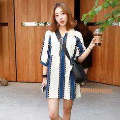 Seoul Fashion - 吊蘇圖案迷你連衣裙