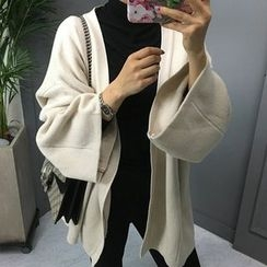 STYLEBYYAM - Open-Front Wide-Sleeve Cardigan