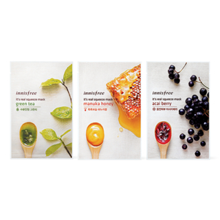 Innisfree - Variety Pack - It's Real Squeeze Mask - 10 Flavors
