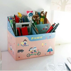 OH.LEELY - Printed Cardboard Desk Organizer
