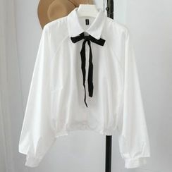 Phantasy - Bow Long-Sleeve Blouse
