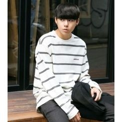 ABOKI - Long-Sleeve Striped T-Shirt