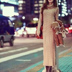 Isadora - Turtleneck Cable Knit Dress