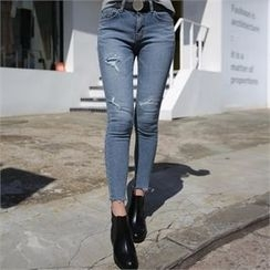 QNIGIRLS - Distressed Skinny Jeans