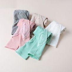 Kidora - 小童钩织拼接内搭裤