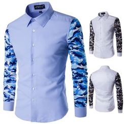 Blueforce - Camouflage Print Sleeve Shirt