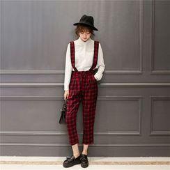 Sienne - Check Suspender Pants