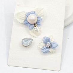 Mocca - Set Of 3: Flower Brooch