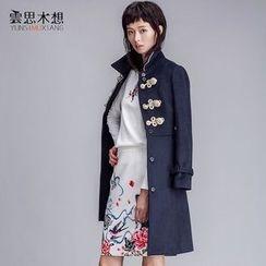 Cloudwood - Piped Long Woolen Coat