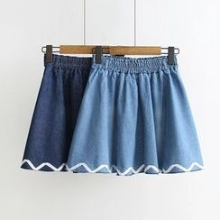 Musume - Denim A-Line Skirt