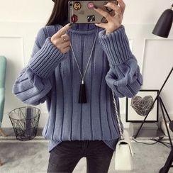 Qimi - Plain Ribbed Sweater