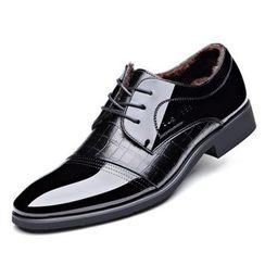 Fortuna - 加絨保暖系帶商務皮鞋