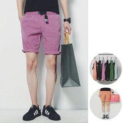 Chuoku - Corduroy Plain Shorts