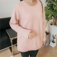JOAMOM - Round-Neck Raglan-Sleeve T-Shirt