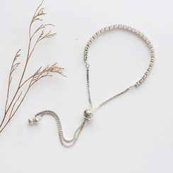 Love Generation - Rhinestone Sterling Silver Bracelet