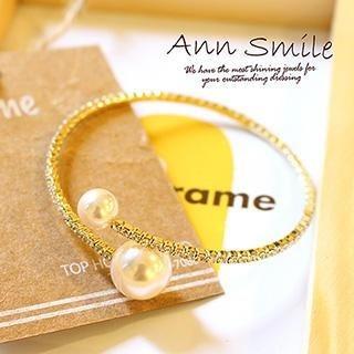 AnnSmile - Faux-Pearl Bracelet