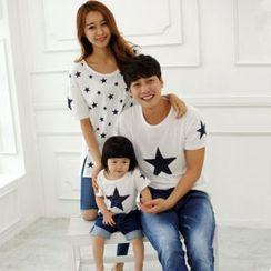 Dream Team - Family Matching Star Print Short Sleeve T-Shirt