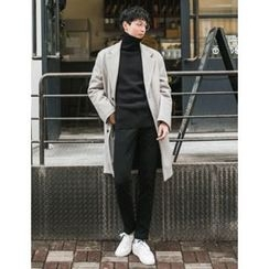 STYLEMAN - Single-Breasted Quilted Lined Coat