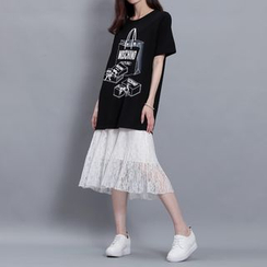 Sonne - 蕾丝拼接吊带打底裙