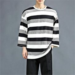 THE COVER - 3/4-Sleeve Color-Block T-Shirt