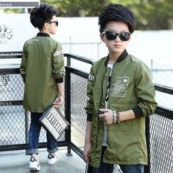 Pegasus - Kids Print Long Baseball Jacket