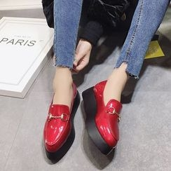 Chryse - Platform Faux Leather Loafers
