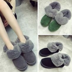SouthBay Shoes - Furry Trim Snow Boots