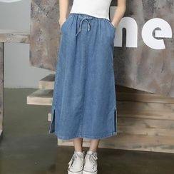 Kiche - 牛仔布中长裙
