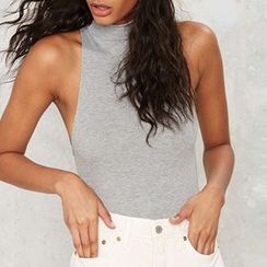Obel - Sleeveless Mock Neck Bodysuit Top