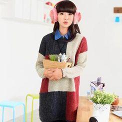 59 Seconds - Color-Block Long Sweater