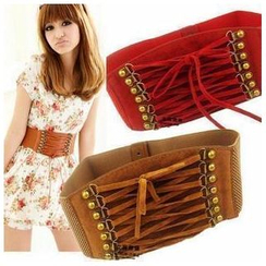 Goldenrod - Lace-Up Elastic Belt