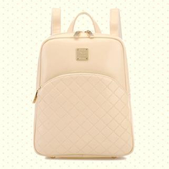 BeiBaoBao - Quilted Faux Leather Backpack