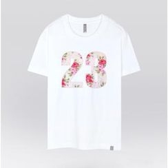 the shirts - Floral Number Print T-Shirt