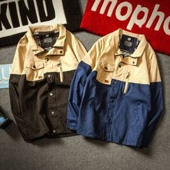 Alvicio - Colour Block Collared Jacket
