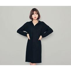 HOTPING - Half-Placket Shift Dress