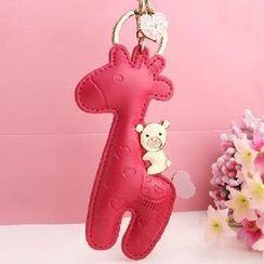 MILESI - Giraffe Pouch Key Ring