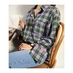 FROMBEGINNING - Check Cotton Shirt