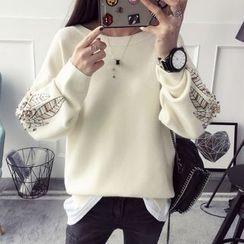 Qimi - Embellished Sweater
