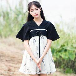 Cedar Smile - Cosplay Short-Sleeve Printed Dress