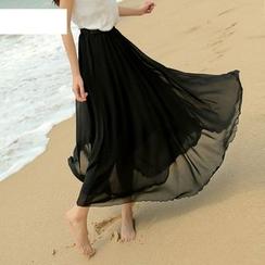 Jenny's Couture - Chiffon Midi Skirt