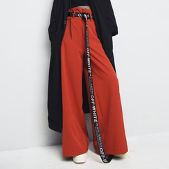 Sonne - High-Waist Wide-Leg Pants with Belt